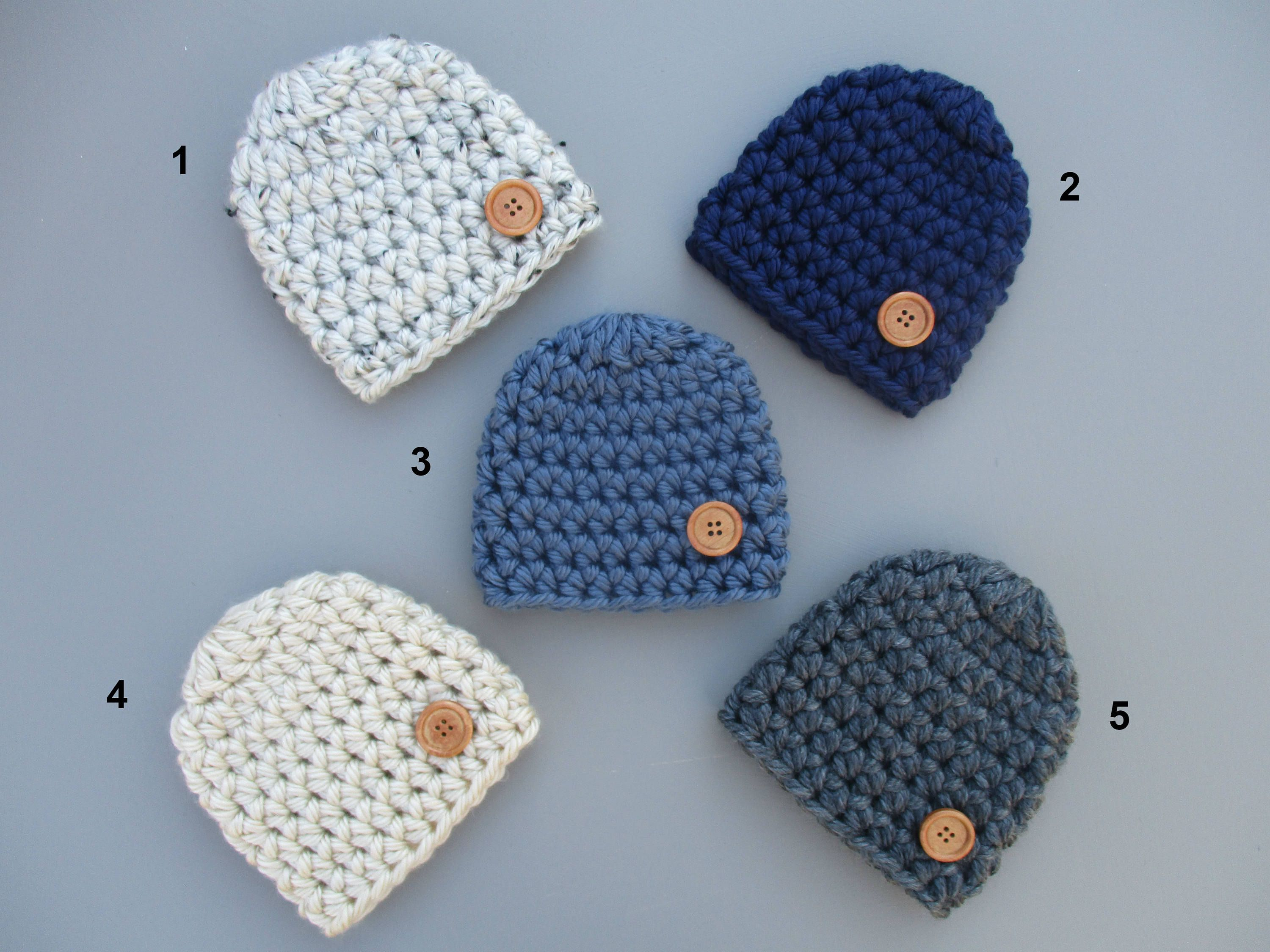 e66406095b9 tton Hat Newborn Boy Hat Baby Beanie Crochet Baby Hat Boy Baby Hat https