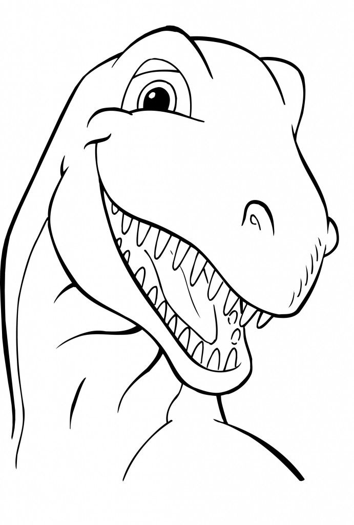 Free Printable Dinosaur Coloring Pages For Kids | Cestas
