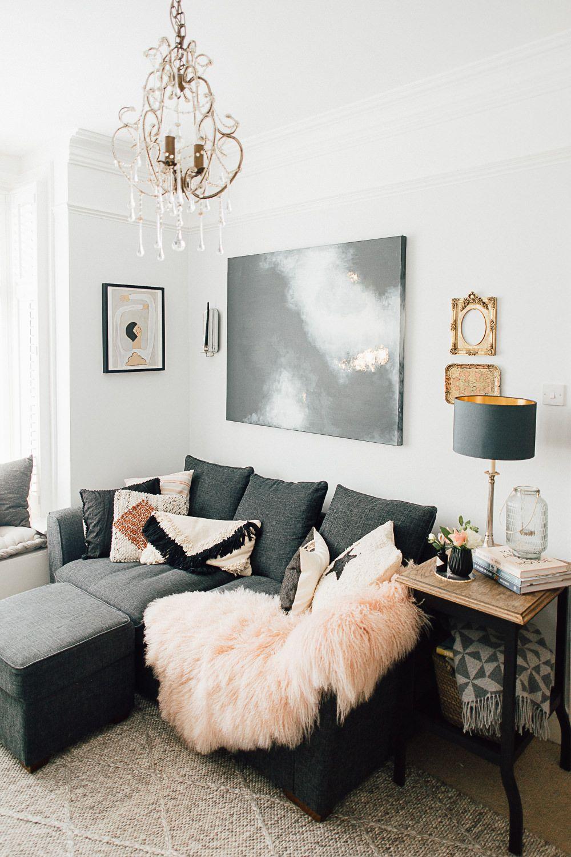 theresa s global inspired home tour living room grey on beautiful modern black white living room inspired id=49208
