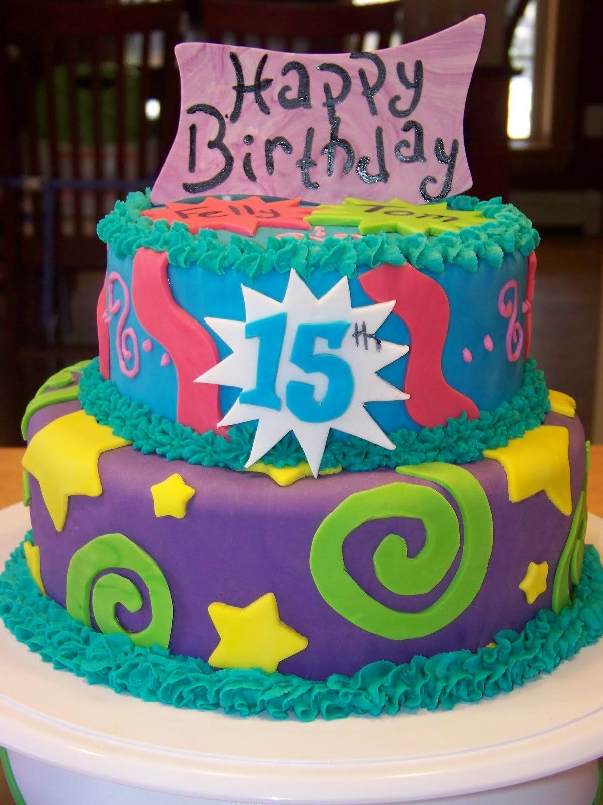 21 Beautiful Image Of 15 Birthday Cakes With Images 15th