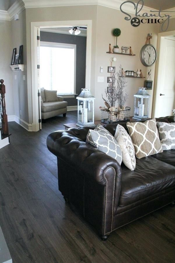 Dark Grey Leather Sofa Decorating Ideas in 2020 (With ...