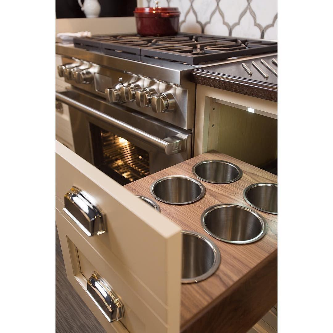 Aren T These Built In Drawer Utensil Holders A Smart Idea Bravo Kbdetails Utensil Holder Cooking Utensil Holder Utensil Drawer