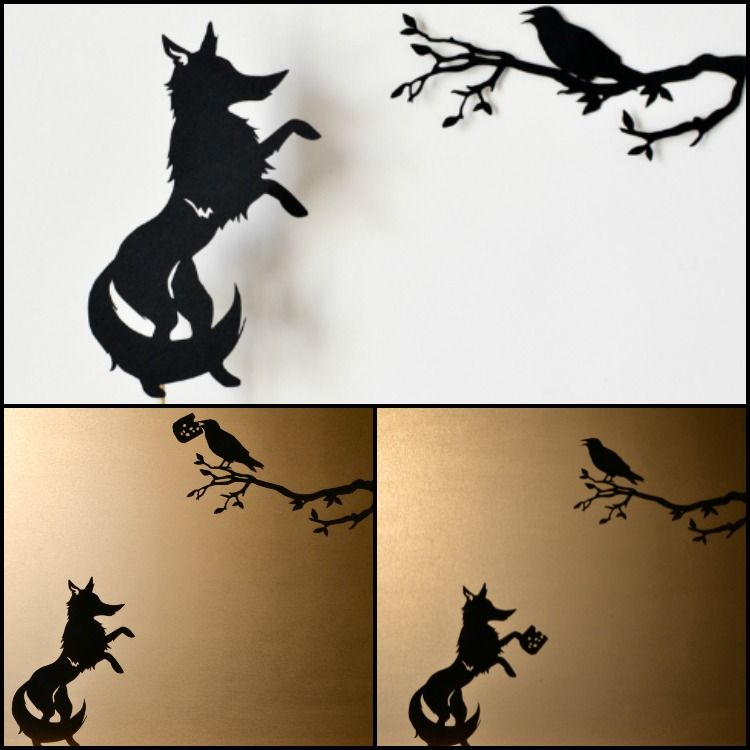 Aesop S Fables Shadow Puppets With Printable Templates Shadow Puppets Aesops Fables Art Wall Kids