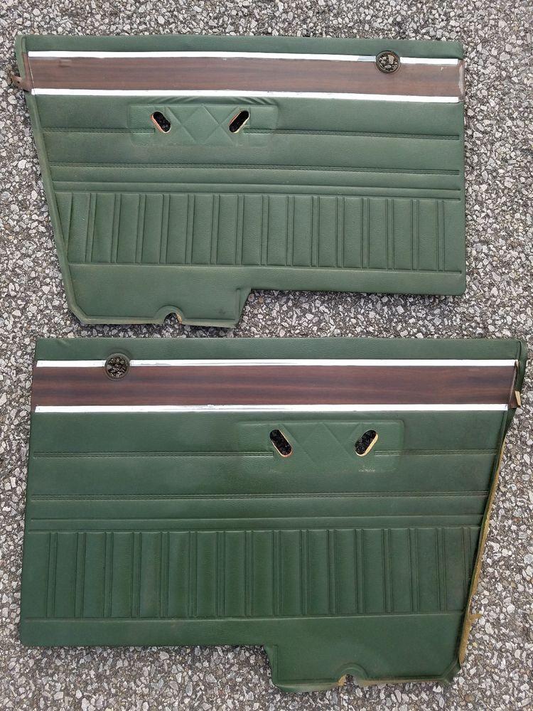 1970 1974 Dodge Dart Rear Door Panels A Body Mopar Green Wood Plymouth Scamp Mopar Automotive Upholstery Panel Doors Green Wood