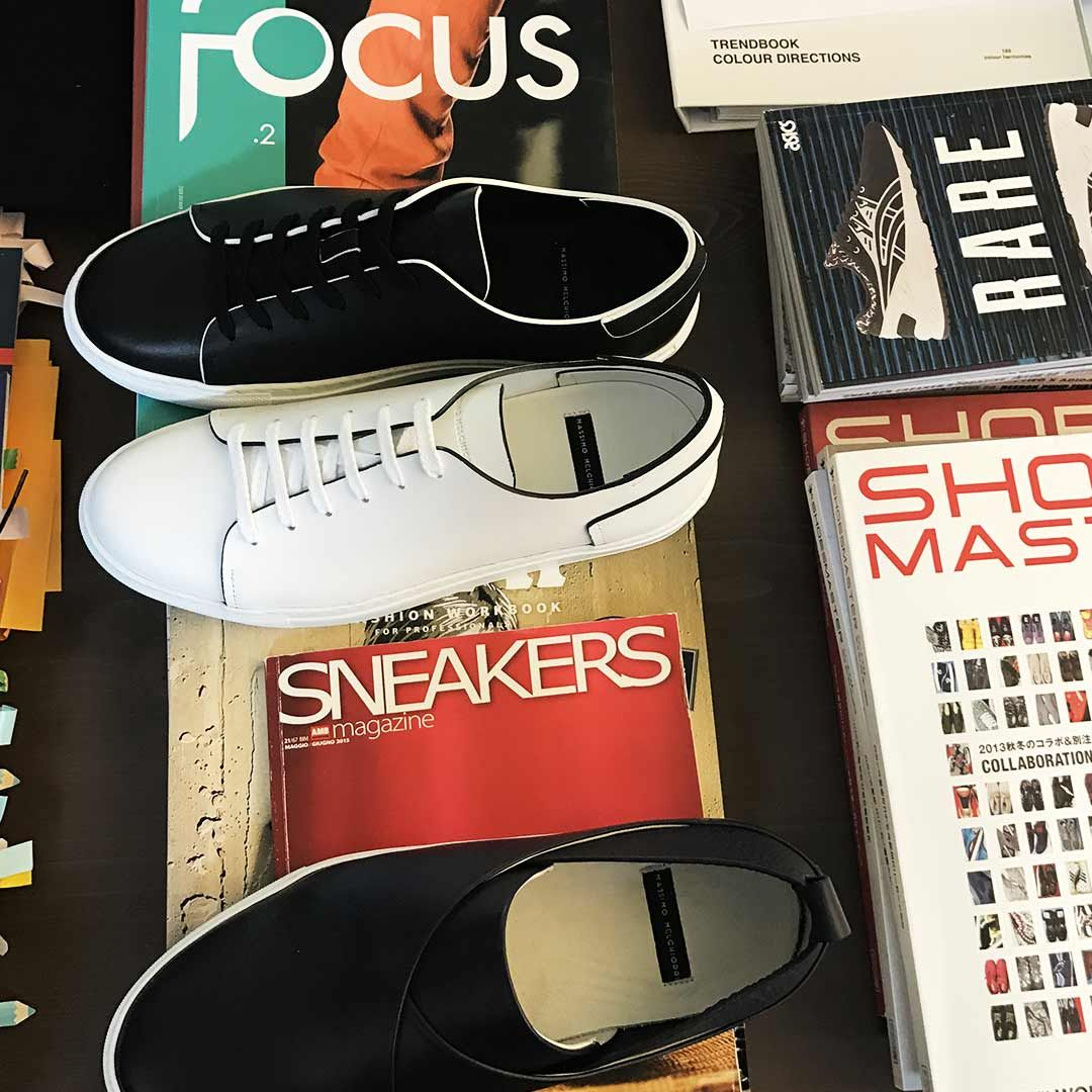 Sneakers scarpe da uomo Massimo Melchiorri studio dei particolari ... aa5ae521d89