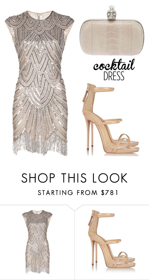 """""""Cocktail Dress"""" by tania-alves ❤ liked on Polyvore featuring Naeem Khan, Giuseppe Zanotti, Alexander McQueen and cocktaildress"""