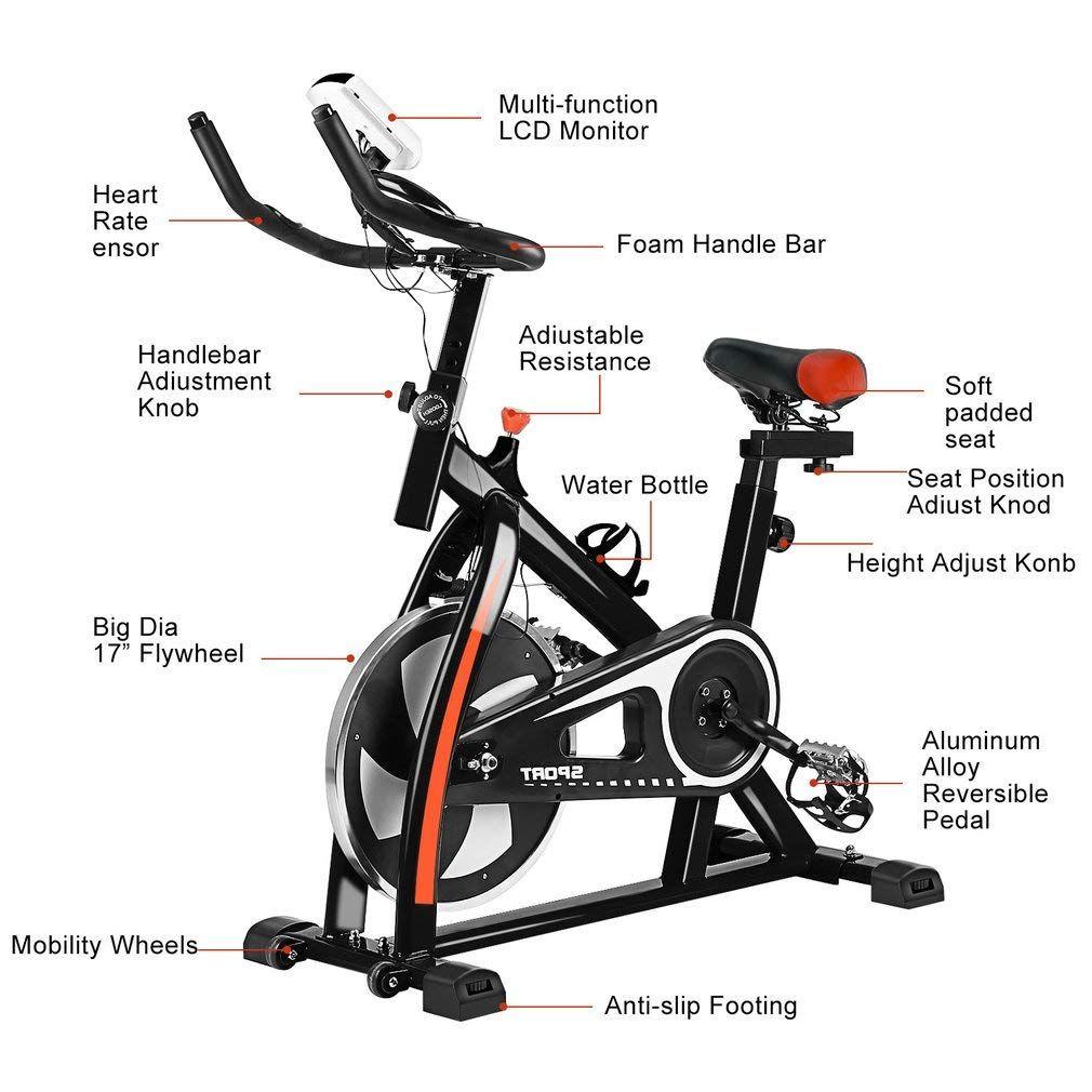 Indoor Cycling Bike Cycle Exercise Bike Mini Exercise Bike Indoor