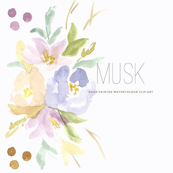 Watercolour Flower Clipart Musk In 2019 Create The Cut Clip