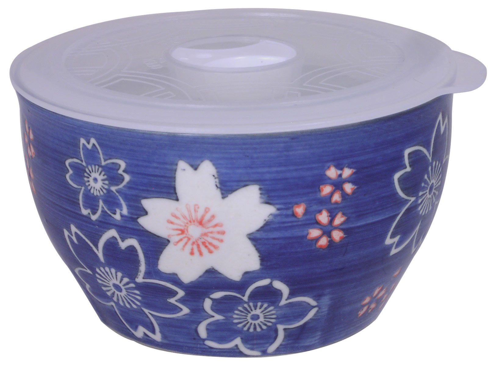 4 1 8 Inch Small Blue And White Cherry Blossom Bowl With Lid White Cherry Blossom Natural Ceramic Bowl