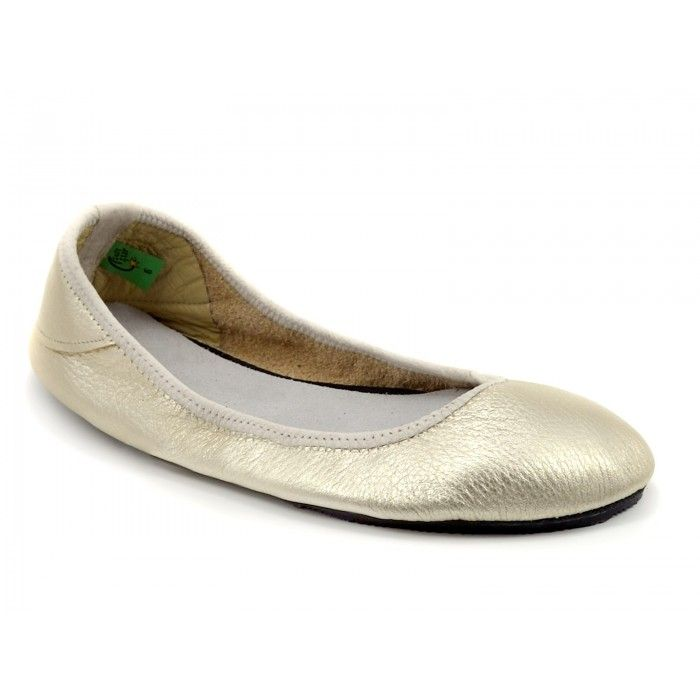 e5c9ec08381e Soft Star Shoes  Adult Ballerine Flat in Shiny Platinum  minimalist shoes  for casual wear