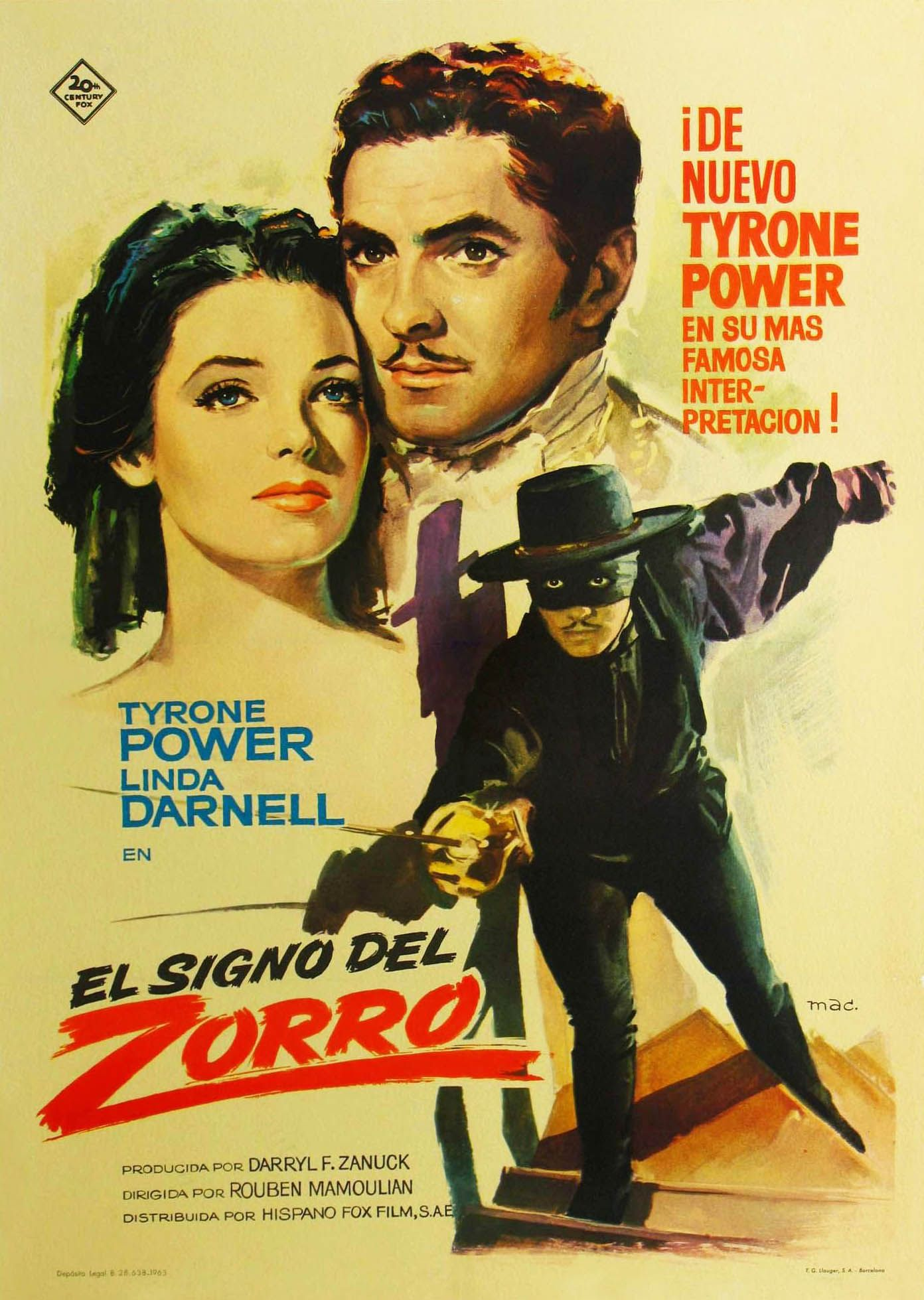 1940 the mark of zorro tyrone power tyronepower