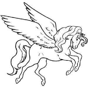 Awesome Pegasus Coloring Page Awesome Pegasus Coloring Page