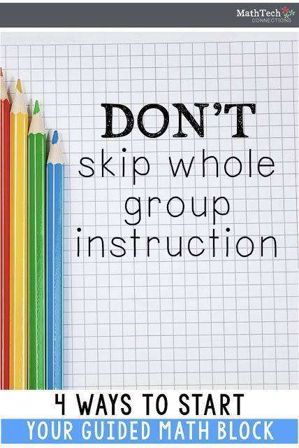 Dont Skip Whole Group Instruction Effective Teaching Strategies