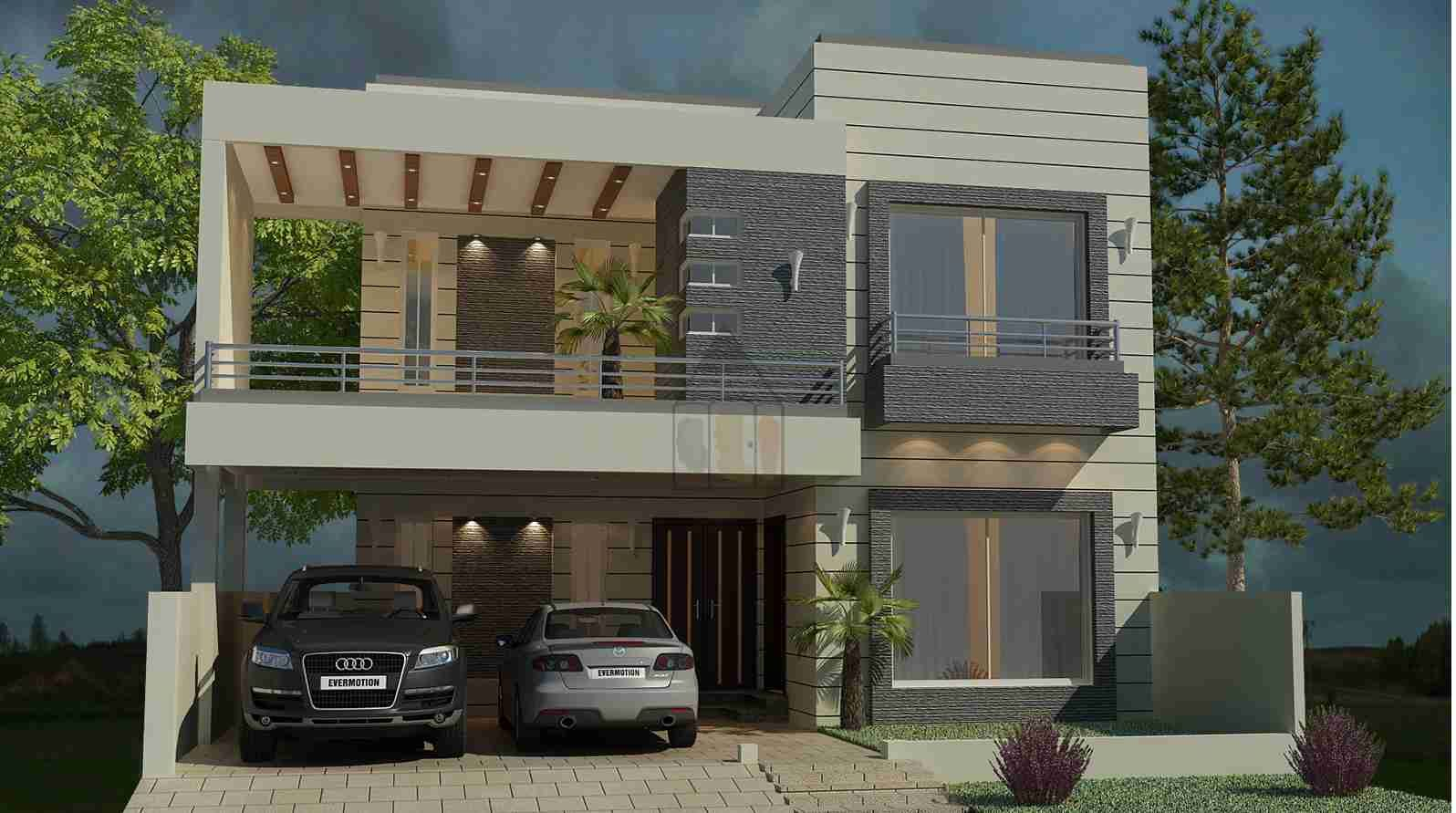 Beautiful 10 marla house plan as its layout plan is designed on 3 stories and on