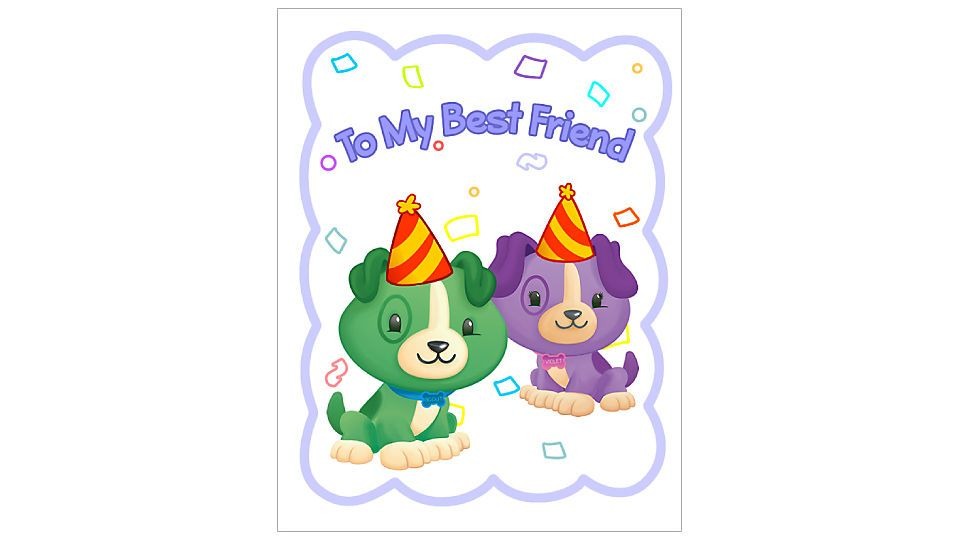 Birthday card from Scout \ Violet Free Kidsu0027 Coloring Pages - printable best friend birthday cards