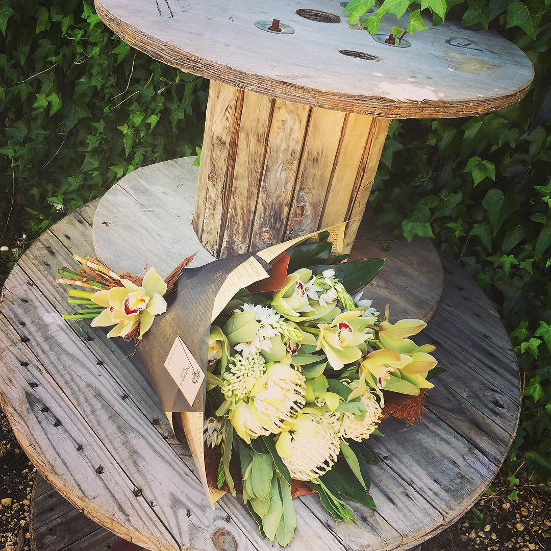 Cymbidium Waratah Bouquet #warrnambool #shoplocal #welove #modernbouquet #cymbidium #signaturewrap #stunning #ogradysflorist by ogradys_florist