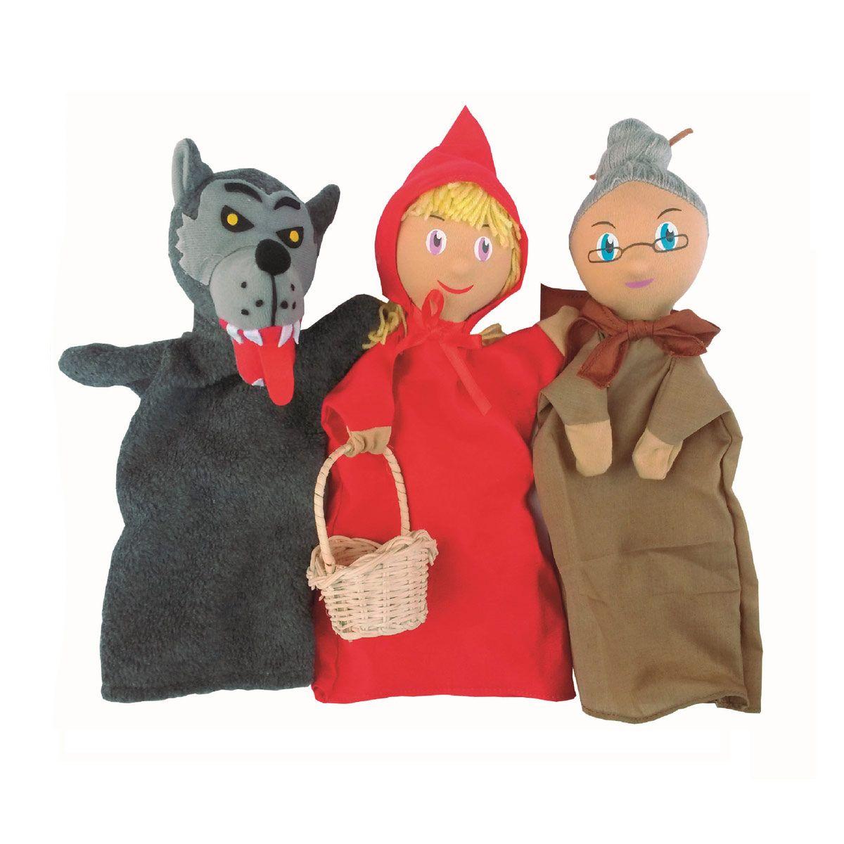 Avec Ces 3 Ravissantes Marionnettes En Tissu Chaperon Loup