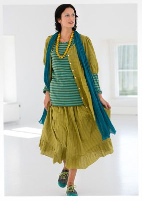 Eco-cotton skirt – EKO-trikå – GUDRUN SJÖDÉN – Webshop, mail order and boutiques | Colorful clothes and home textiles in natural materials.