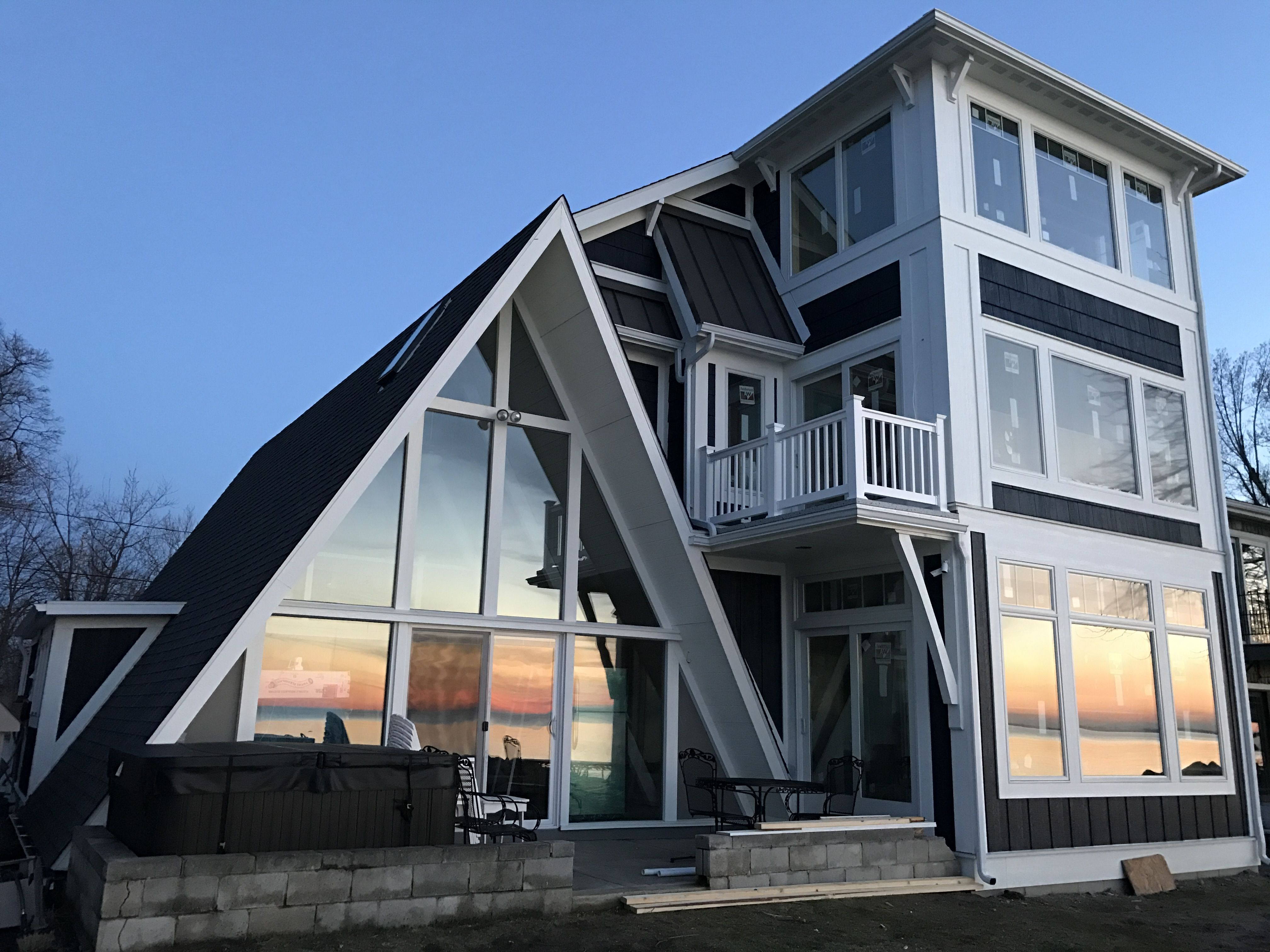 a-frame addition remodel part 2. anderson 400 series windows. lp