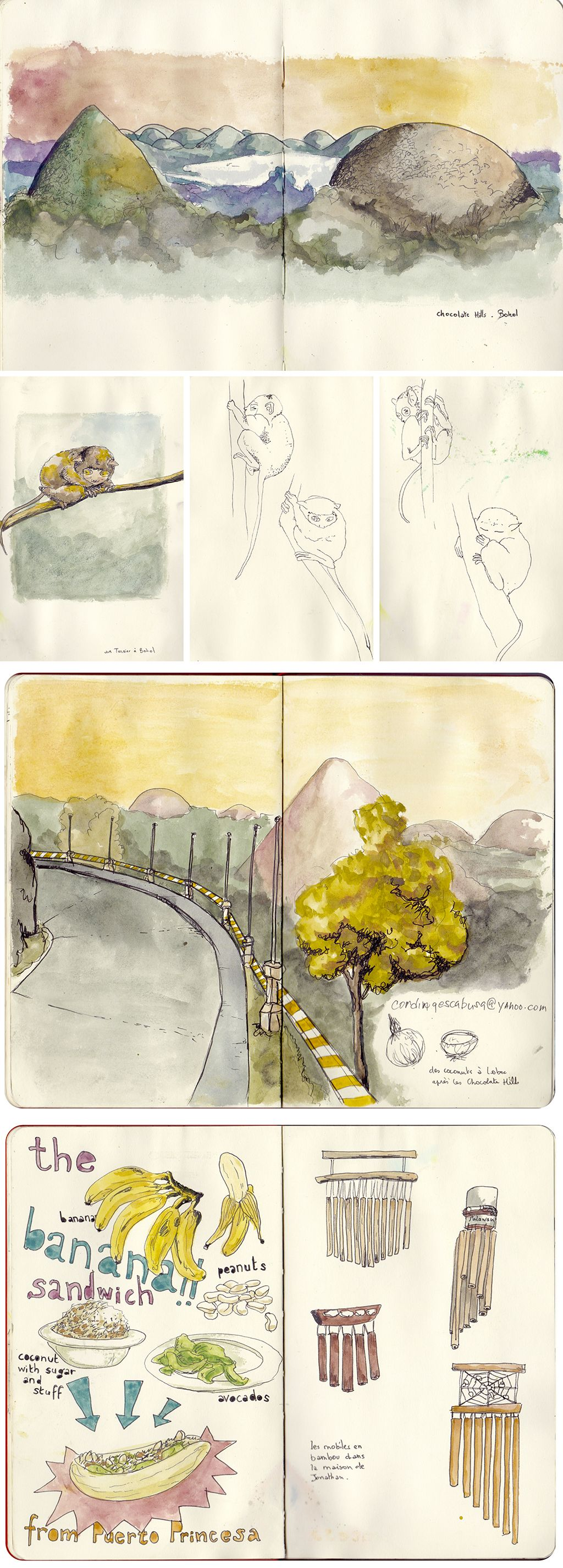 sketches of the islands in the philippines by faustine clavert