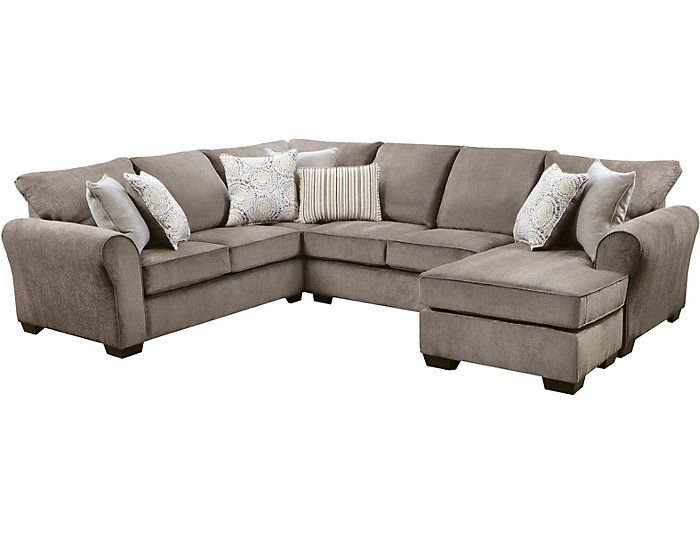 Best Harlow Ash 2 Piece Sectional Ash Large Sectional 400 x 300