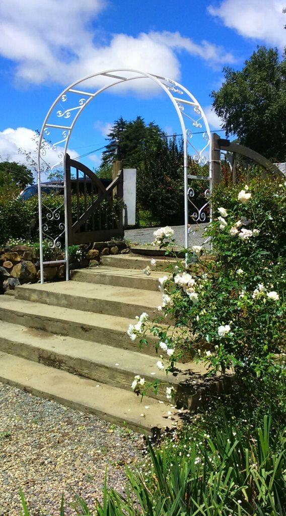Big White Arch By Shane Rossouw Www Rossgatecreations Co Za Arch Gazebo Sidewalk