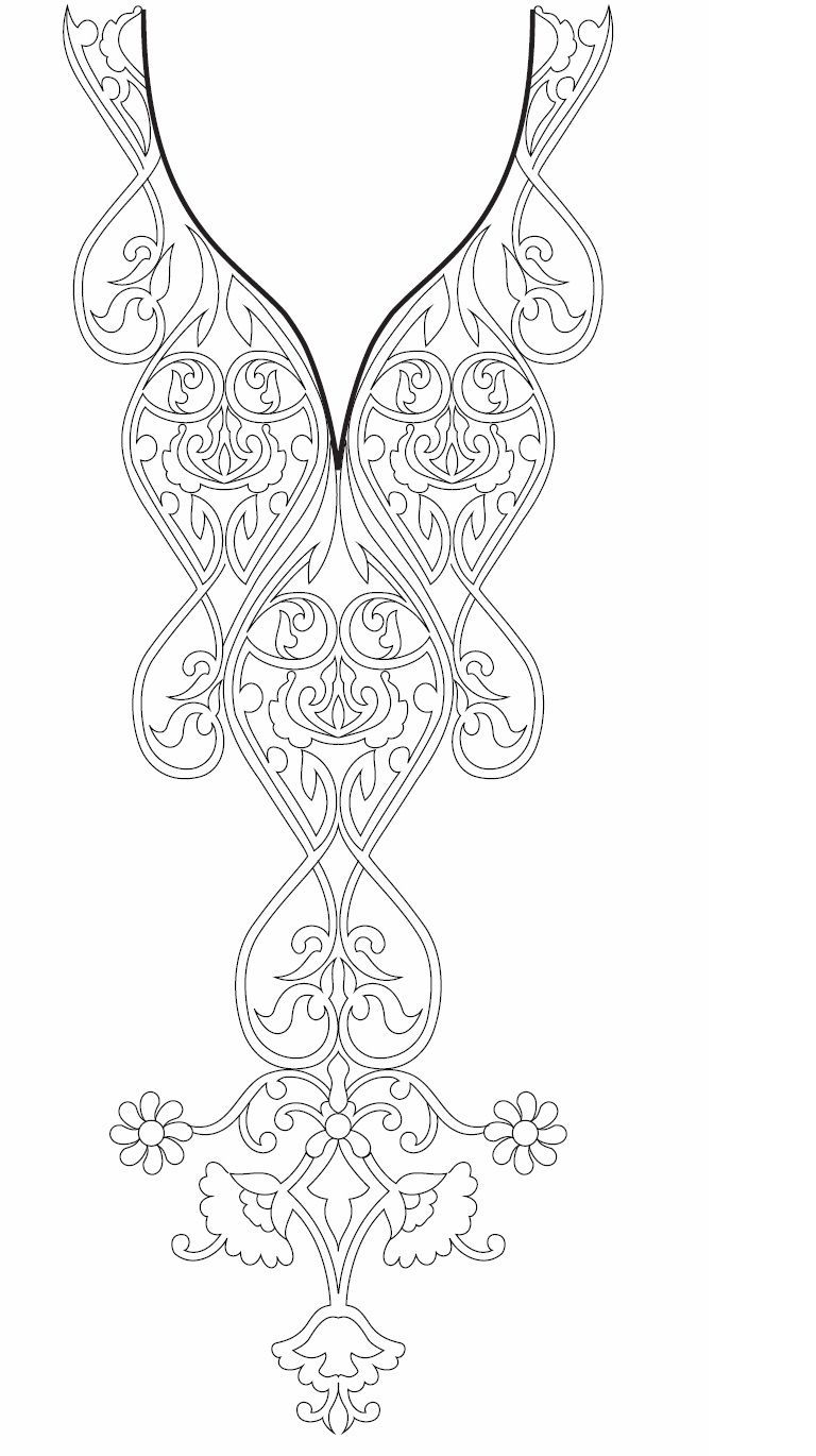 Neck Line Embroidery Design Development | Bordados chulos ...