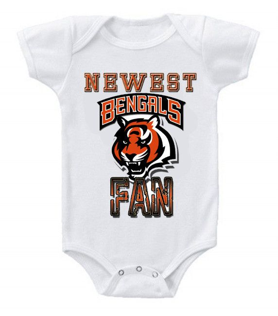 59ff364b NEW Football Baby Onesie Creeper NFL Cincinnati Bengals #2 | Baby ...