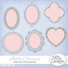 Little Charms Templates by Kim Cameron love heart romance weddingcudigitals.com cu commercial scrap scrapbook digital graphics#digitalscrapbooking #photoshop #digiscrap #scrapbooking