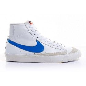 52444ce24651d3 Nike Blazer Vintage Mid 77 White Blue Premium Leather Shoes Like Mike