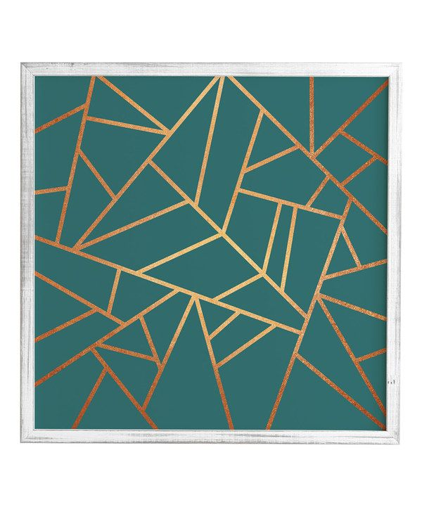 Look at this Weathered White Copper & Teal Framed Wall Art on #zulily today!