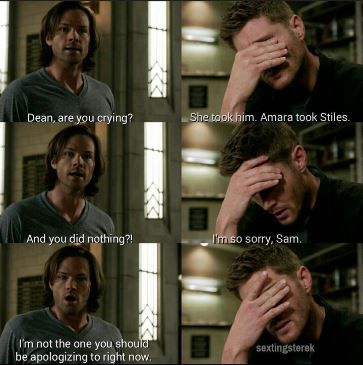 Amara kidnaps Stiles to use him against Dean, and Sam reacts.