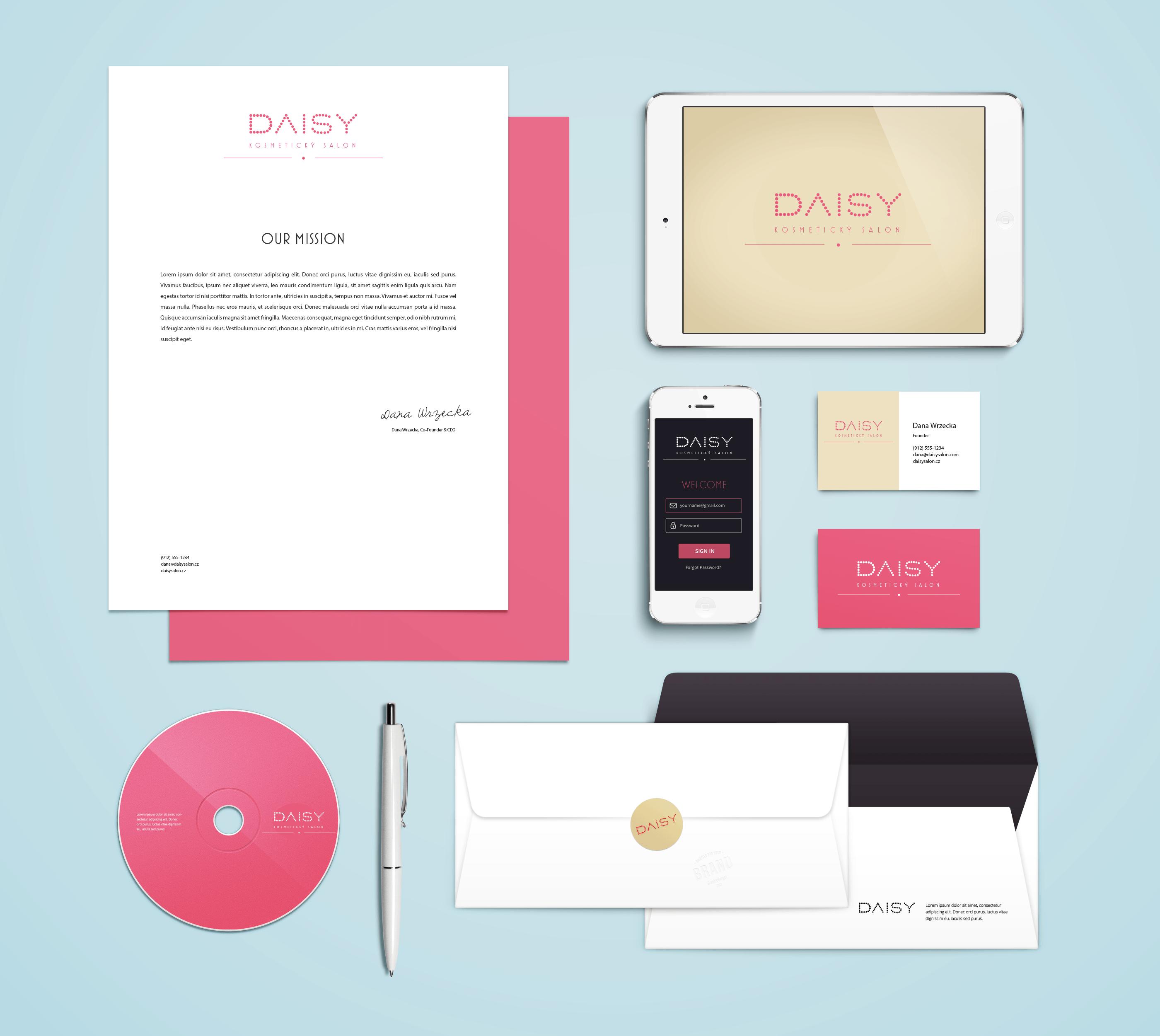 Brand Identity Design For A Beauty Salon Branding Identity Mockup Branding Mockups Free Branding Mockups Psd