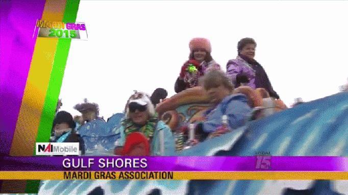 MARDI GRAS 2015: Gulf Shores Parade Gets Underway