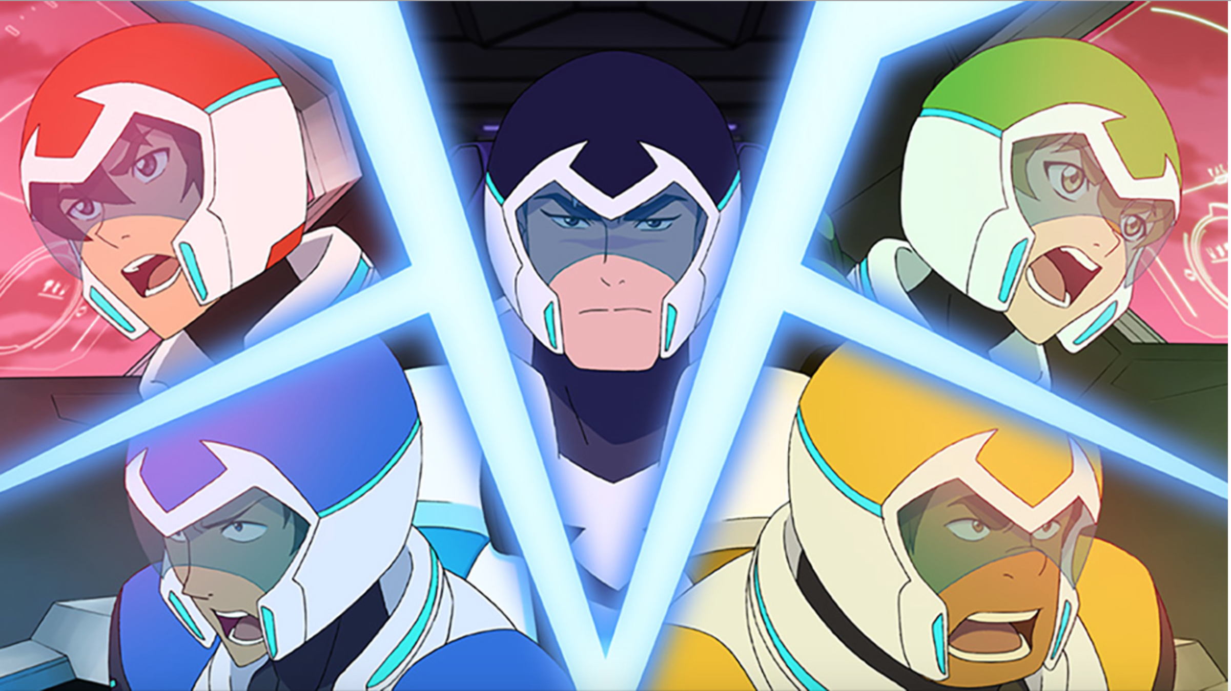 Keith, Lance, Shiro, Pidge, Hunk team up to form Voltron from ...
