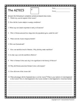 worksheet. Aztec Worksheets. Grass Fedjp Worksheet Study Site
