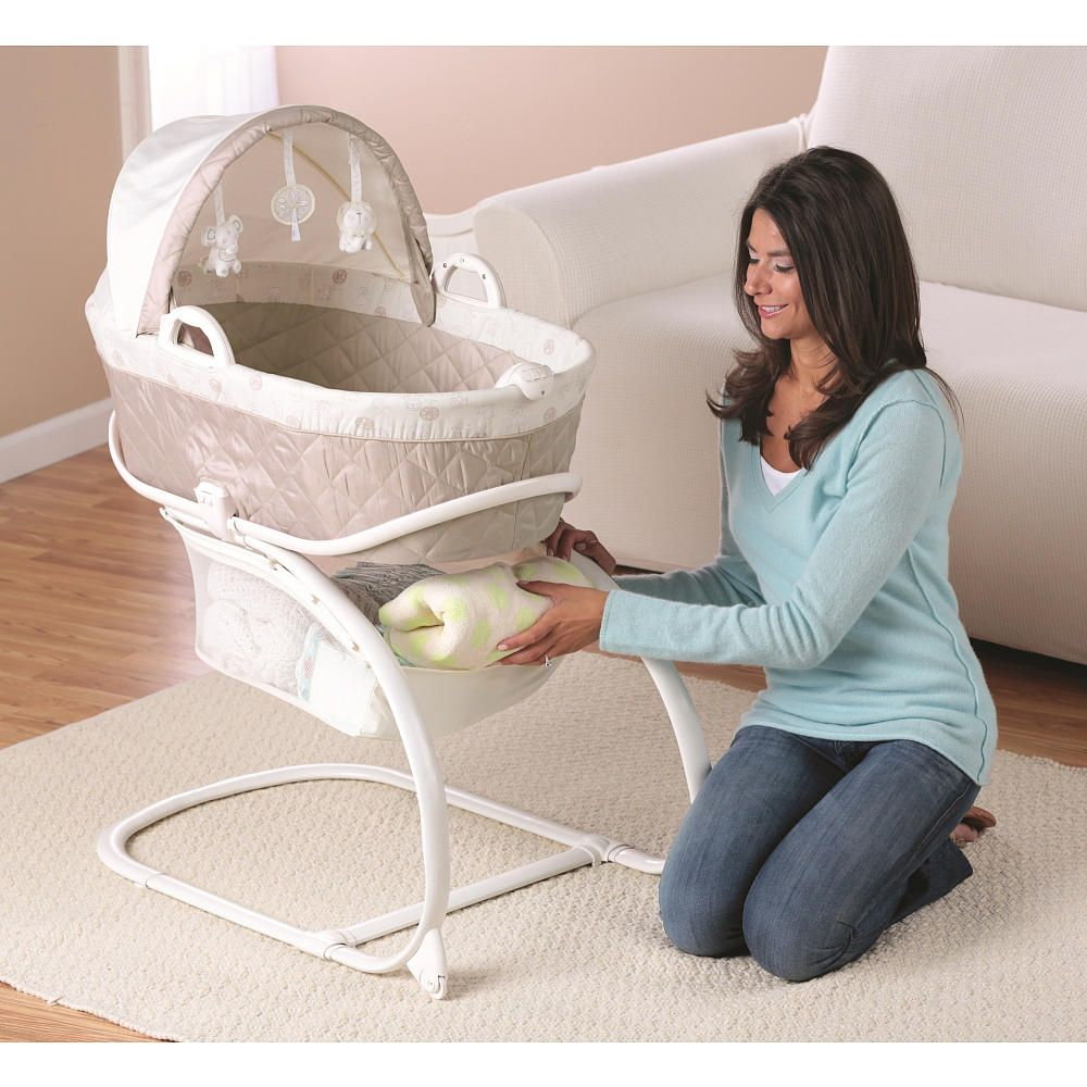 Babies R Us Keep Me Near Bassinet With Moses Basket Cream Taupe
