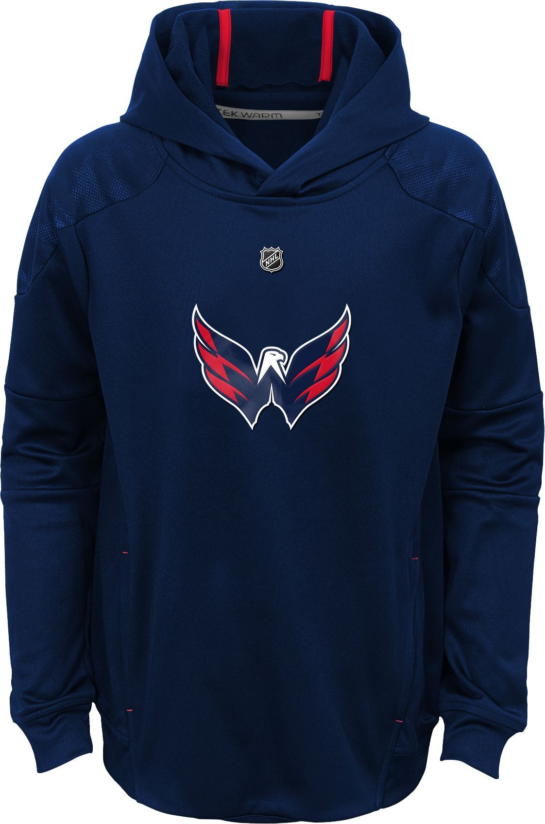 NHL Youth Washington Capitals Mach Red Pullover Hoodie fa9061448