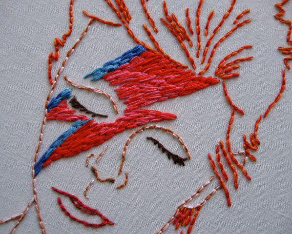 Embroidery Pattern: David Bowie por Speckless en Etsy