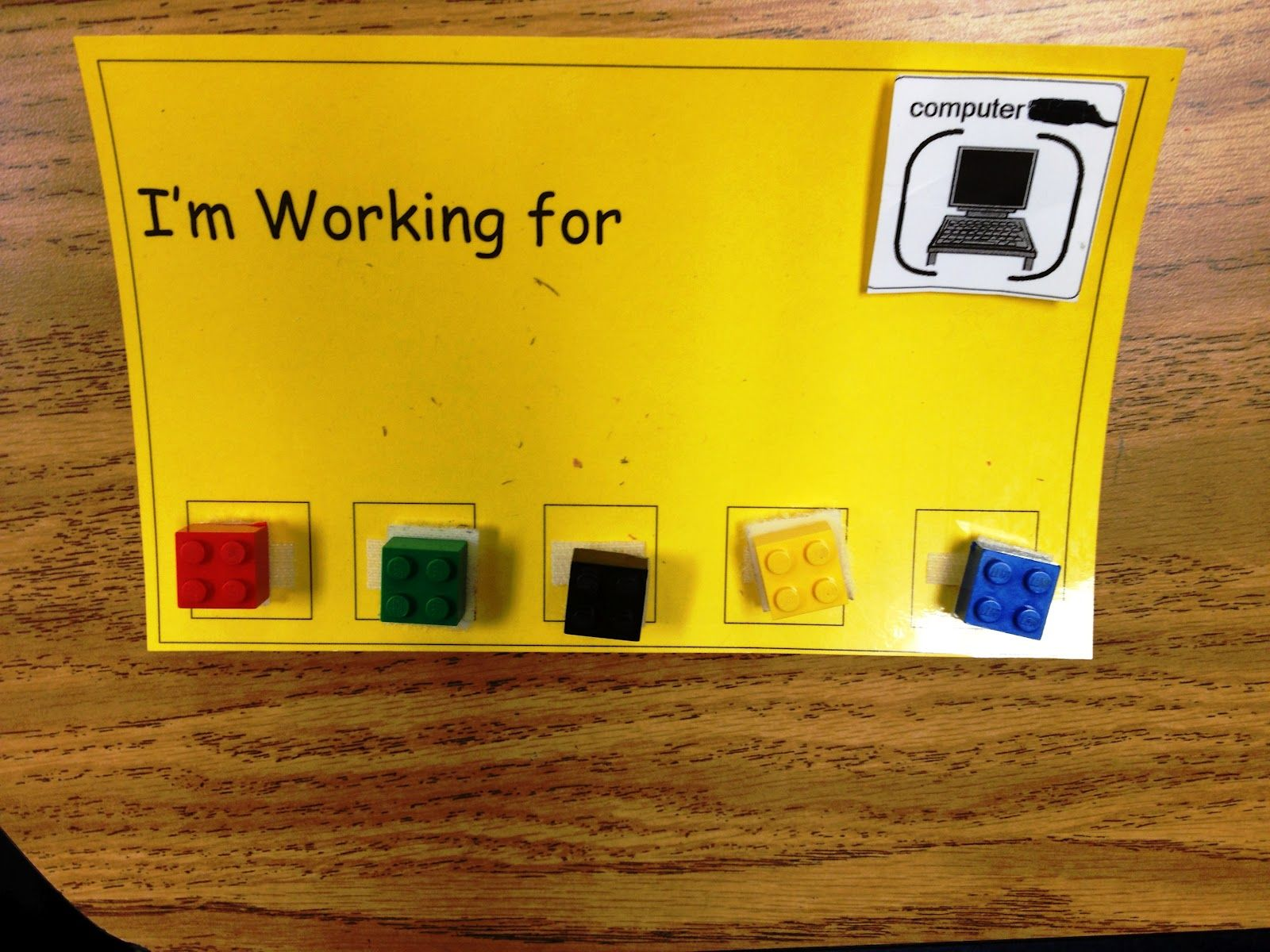 Velcro Lego Reward Chart School