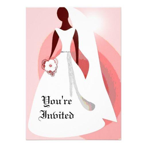 Elegant African American Wedding Invitation African American