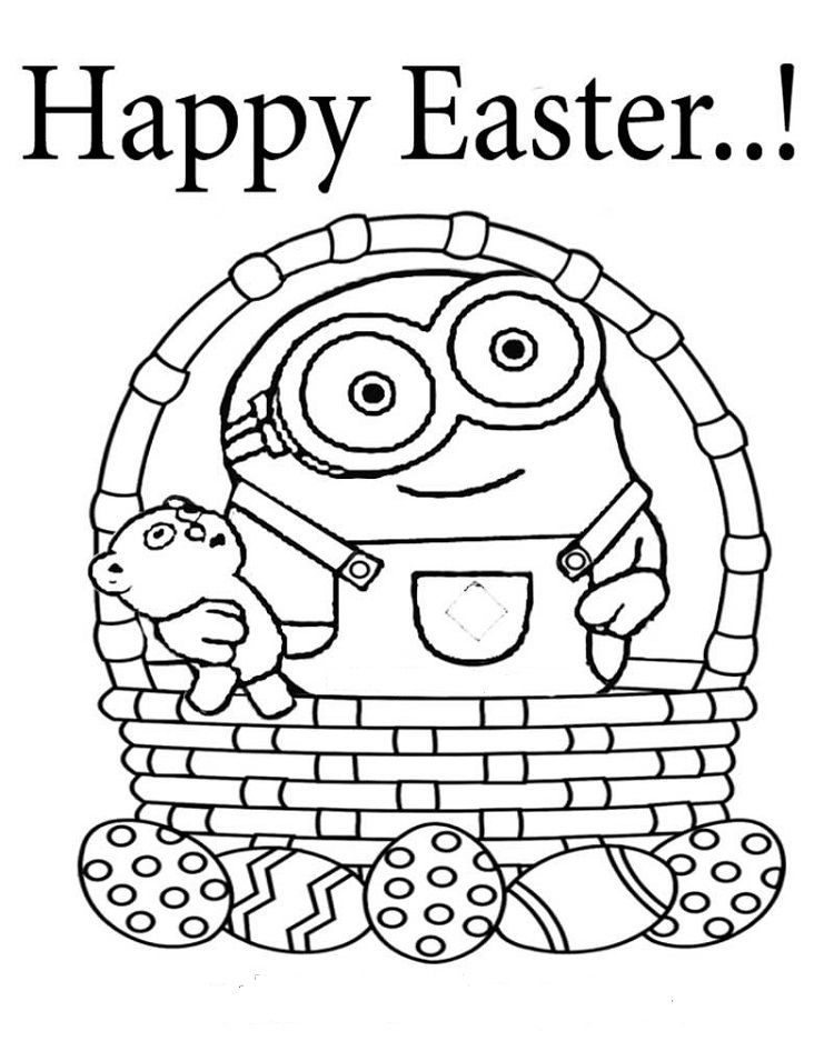 Easter Minion Coloring Pages Minion Coloring Pages Coloring Pages Easter Colouring