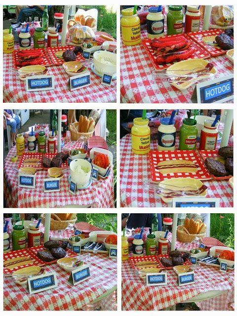 Set up a burger/hotdog bar for your buddies! | Barbecue ...