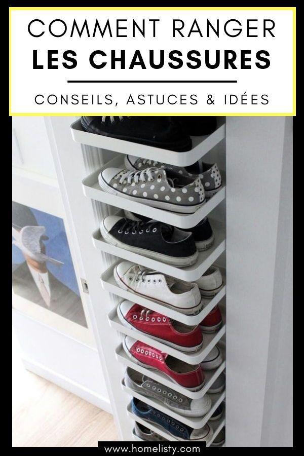 61 Idées & Astuces pour le Rangement des Chaussures