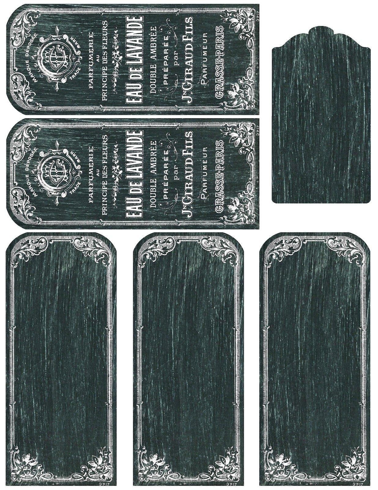 Printable Chalkboard labels