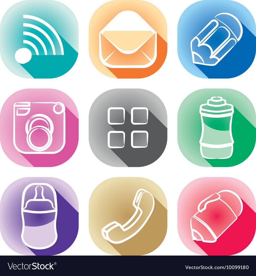Icon app Royalty Free Vector Image - VectorStock