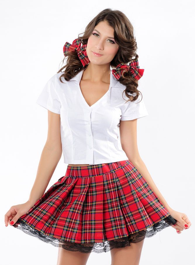 Ladies School Uniform Girls Britney Pleat Skirt