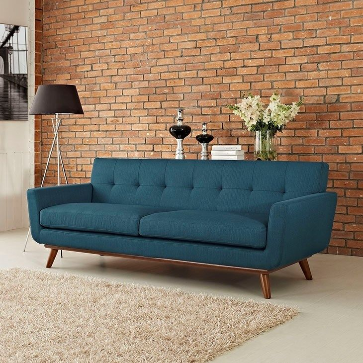 Lexmod Engage Upholstered Sofa In Azure In 2019