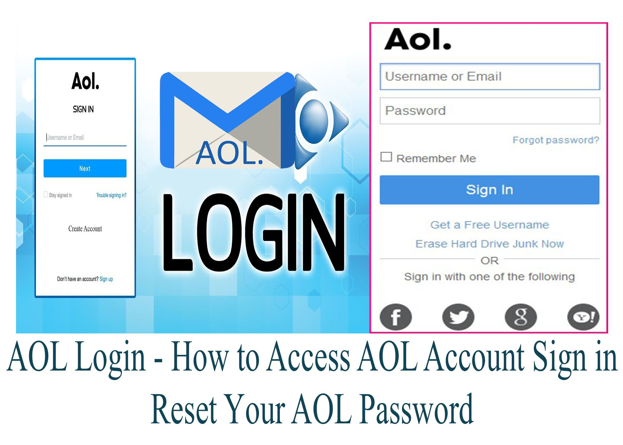 Furthermore For A User To Sign In To His Or Her Aol Mail Account Or Access The Aol Login Process They Need To Fill In Accounting Mail Login Account Sign In Sign in to your account
