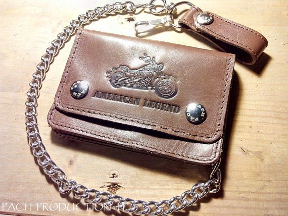 Hey, I found this really awesome Etsy listing at https://www.etsy.com/listing/247204269/biker-leather-chain-wallet-small-135-cm